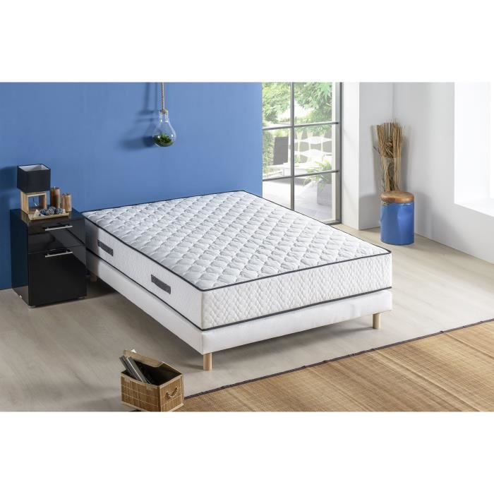 ensemble matelas sommier 140x190 achat vente. Black Bedroom Furniture Sets. Home Design Ideas