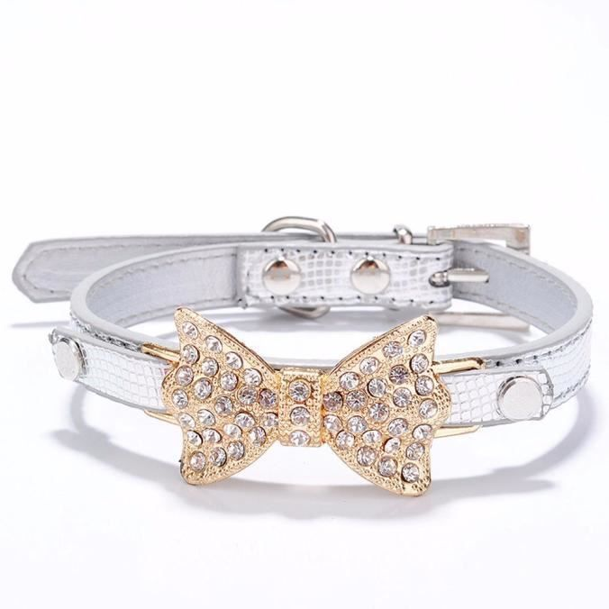 COLLIER Bling strass Bow bowknot chiot collier de chien po