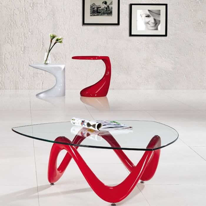 Delicieux Table Basse Rouge