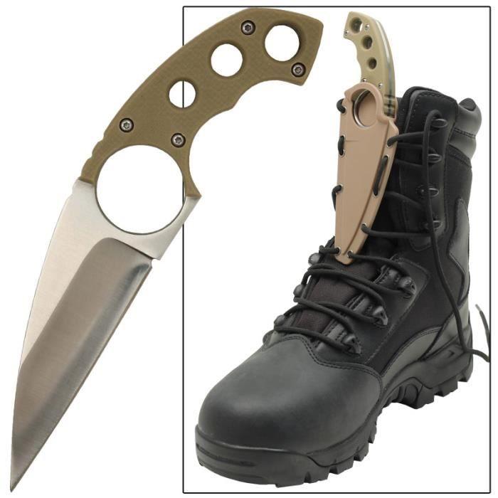 couteau de botte avec cha ne en acier et tui tactique sauvetage self defense prix pas cher. Black Bedroom Furniture Sets. Home Design Ideas