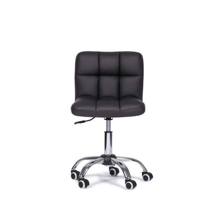 Chaise De Bureau Royal Noir Design Et Réglable Achat Vente