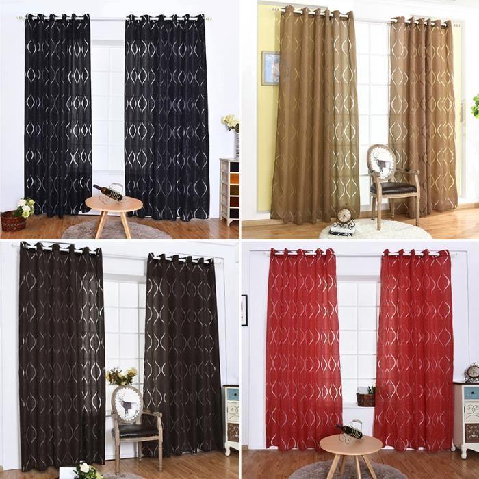 Noir 100 * 250cm Écrans de fenêtre de rideau multicolore de ...