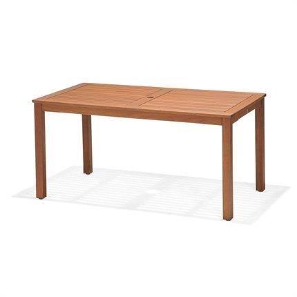Kingsbury Table de Jardin rectangulaire avec Trou pour Parasol en ...