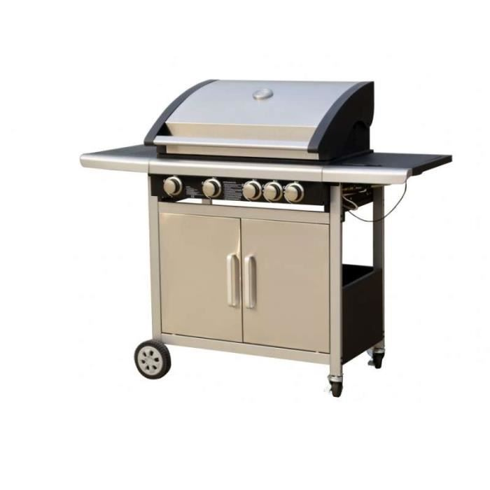 cdiscount barbecue gaz cookingbox barbecue gaz paarl feux acier maill achat vente barbecue. Black Bedroom Furniture Sets. Home Design Ideas