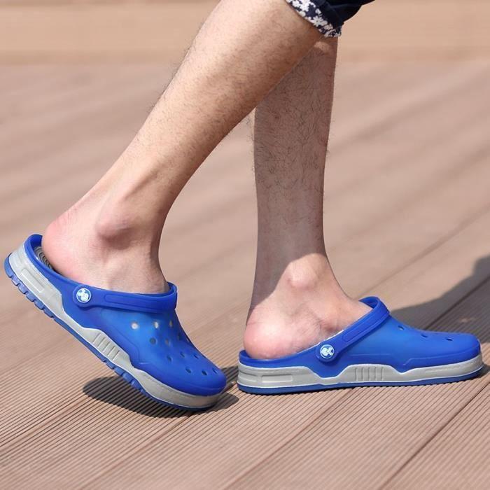 Hommes sandales de plage d'été Loisirs Non-Slip Chaussures Hommes Slipper Marcher dans l'eau EHN6YkdPNO