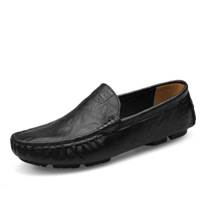 Grande main la ete à Qualité Travail Luxe Taille hommes De Supérieure Antidérapant Cuir chaussure En Marque Moccasin De 2017 7Tq1wcnxCA
