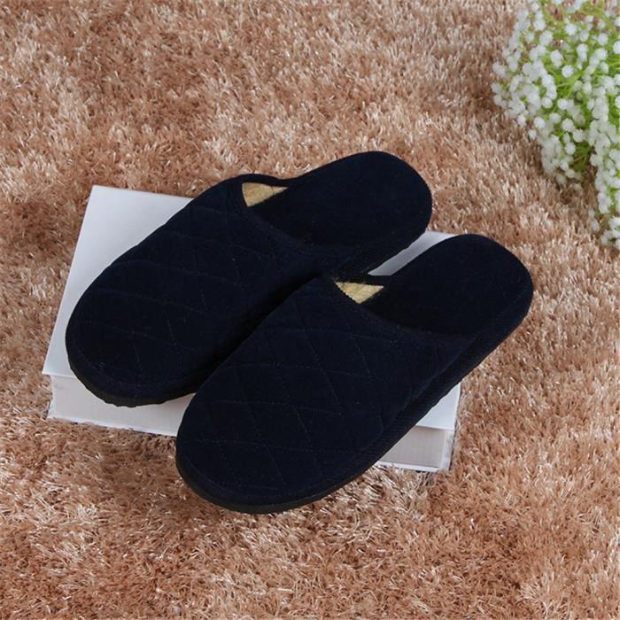 Chausson Homme Qualité SupéRieure Chaussons Nouvelle Mode Chaussures Respirant Confortable 39-44 Q1UXk