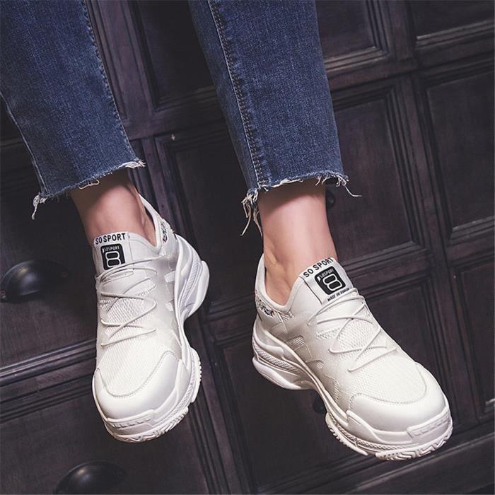 Qualité Baskets Poids Super Meilleure Grande Femme Respirant Sneakers Personnalité Chaussures Taille Loisirs1 Léger 8nwN0vm
