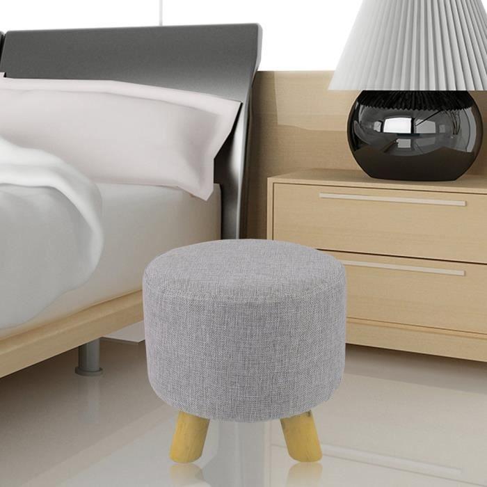 Pouf-3 pieds-rond -gris - chambre de coucher/Salon - Achat / Vente ...