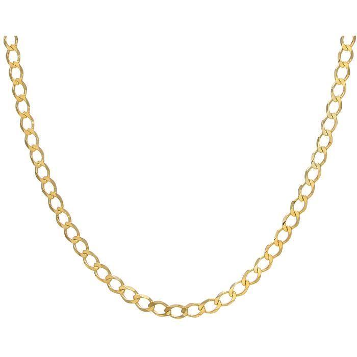 Revoni - Collier courbé en or jaune 9 carats 28,2 g, longueur 66 cm et largeur 7,2 mm