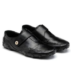 Oxford Flats en cuir décontractée Mode homme Mocassins en cuir pour homme,noir,44,6590_6590