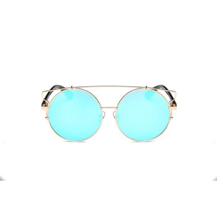 LJL70303131C@Femmes Hommes Vintage Retro Lunettes Unisexe Mode Aviator Mirror Lens Lunettes de soleil