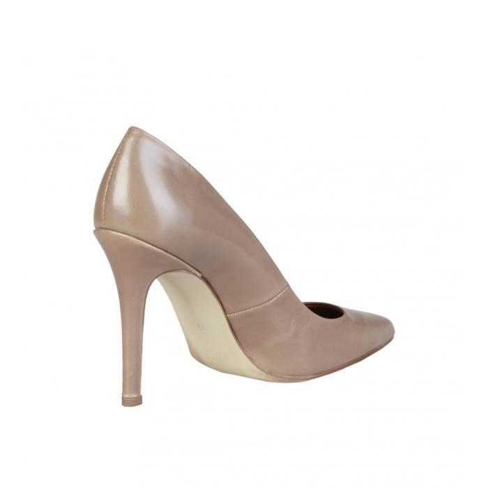 Pierre Cardin - Mathilde chaussures en cuir marron talon -Hauteur: 10cm