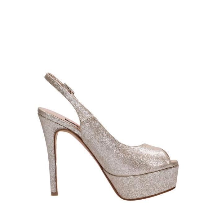 Albano Sandal Femme Beige, 40