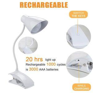 LAMPE A POSER Lampe de lecture USB rechargeable Livre Lampe de b