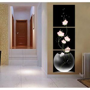 OBJET DÉCORATION MURALE 3 Pcs Populaire Moderne Toile Mur Peinture Abstrai
