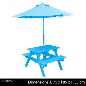 Salon de jardin enfant avec parasol - Achat / Vente Salon de ...