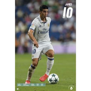 AFFICHE - POSTER Maxi Poster Real Madrid 2016/2017 James
