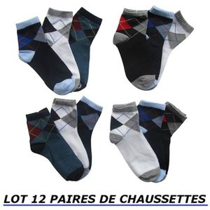 cd6f396055915 LOT 12 PAIRES DE CHAUSSETTES TAILLE 31 32 33 34 GARCON ENFANT COTON  MAJORITAIRE .