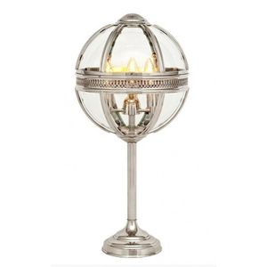 LAMPE A POSER Casa Padrino baroque table lamp silver plated ball