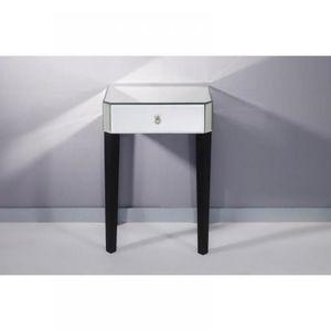chevet miroir achat vente chevet miroir pas cher cdiscount. Black Bedroom Furniture Sets. Home Design Ideas