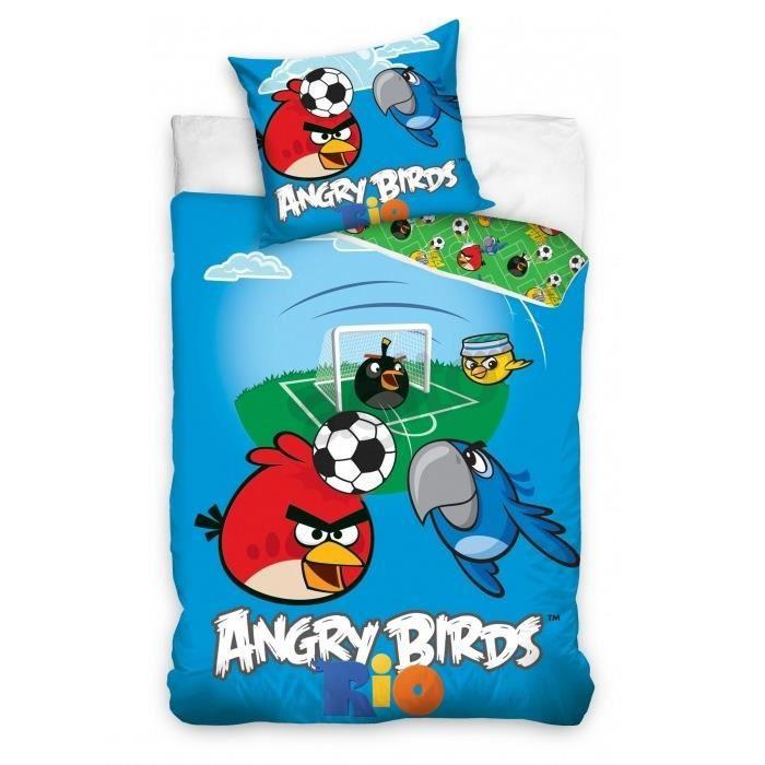 linge de lit angry birds ANGRY BIRDS RIO PARURE HOUSSE DE COUETTE 160x200   Achat / Vente  linge de lit angry birds
