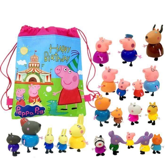 POUPÉE Peppa Pig -pack de 25 figurines avec sac de rangem