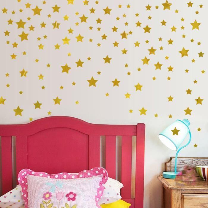 Mode étoiles Stickers muraux enfants Chambre bébé bricolage Wall Art  Décoration d\'intérieur autocollant M28