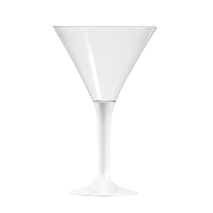 lot de 6 verres cocktail pied couleur blanc achat vente verre jetable black friday le 24. Black Bedroom Furniture Sets. Home Design Ideas