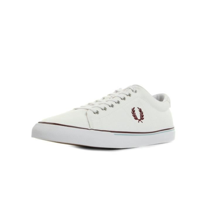Baskets Fred Perry Underspin Canvas White Porto Sky Blue
