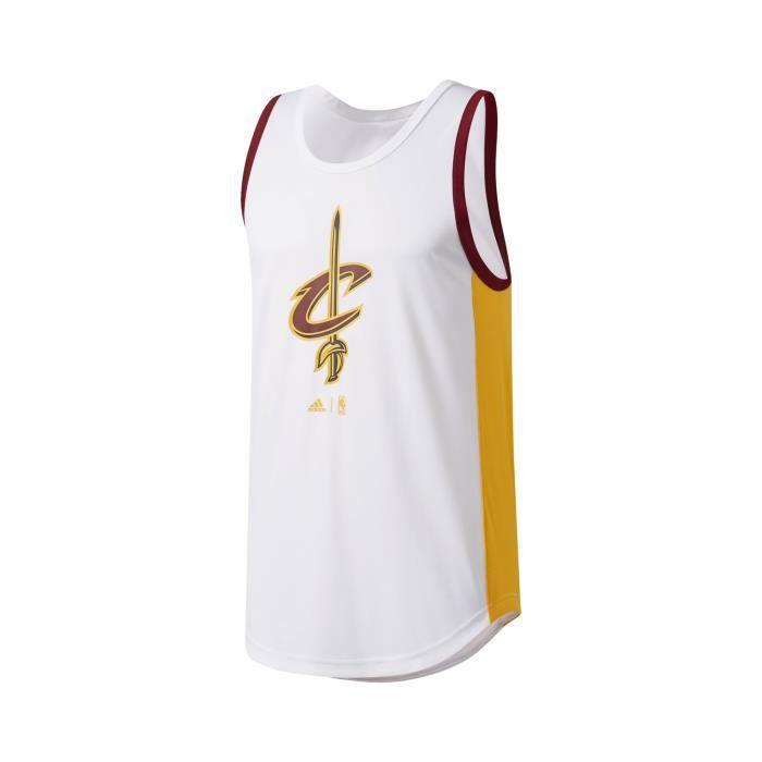2f11ef434a1ac Maillot Basket Entraînement Cleveland Cavaliers Blanc - Prix pas ...