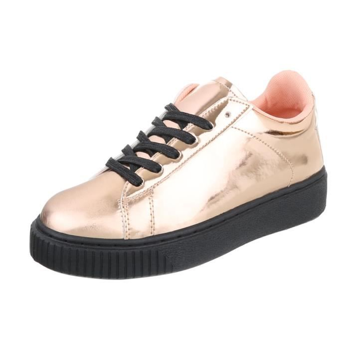 Chaussures femme chaussures sportSneakers rose or 37 Lxe04rXfJ