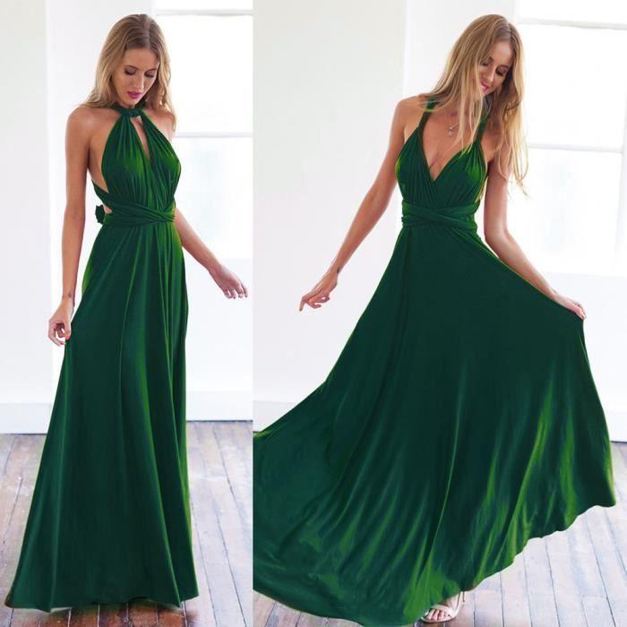Bodhi Femmes sexy convertibles Multiway Wrap pansement robe de demoiselle dhonneur robes longues Vert XL
