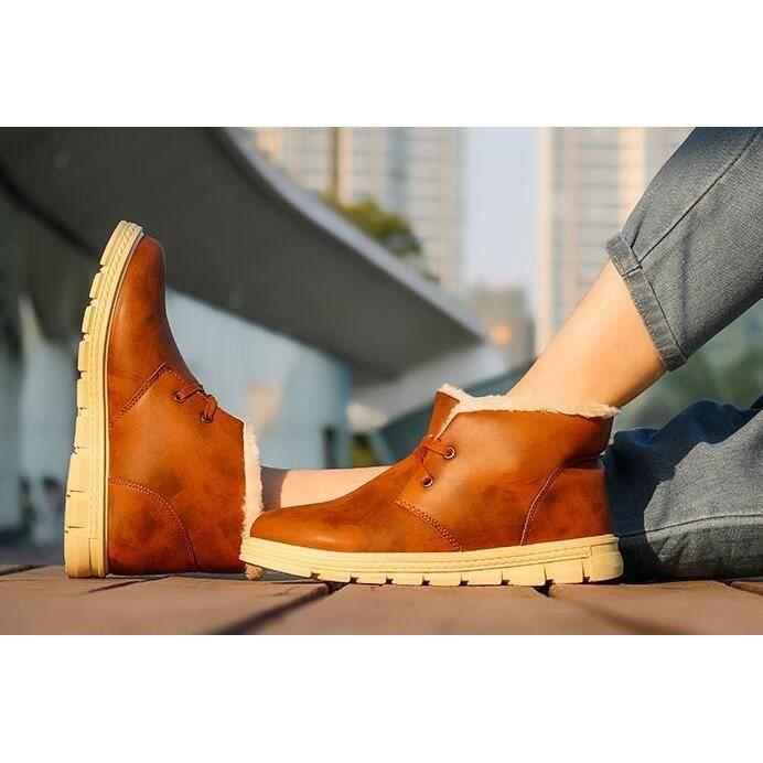 2017 Chaussures En Cuir Mode Pour Hommes Casual Shoes Flats Angleterre Bottes De Coton, Herrenmode Leder Schuhe