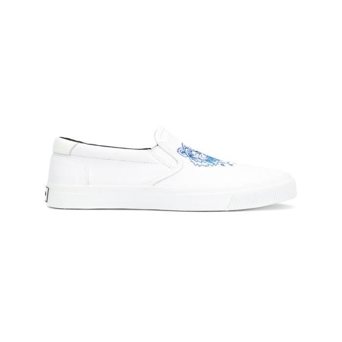 KENZO HOMME F855SN100F7201 BLANC COTON CHAUSSURES DE SKATE