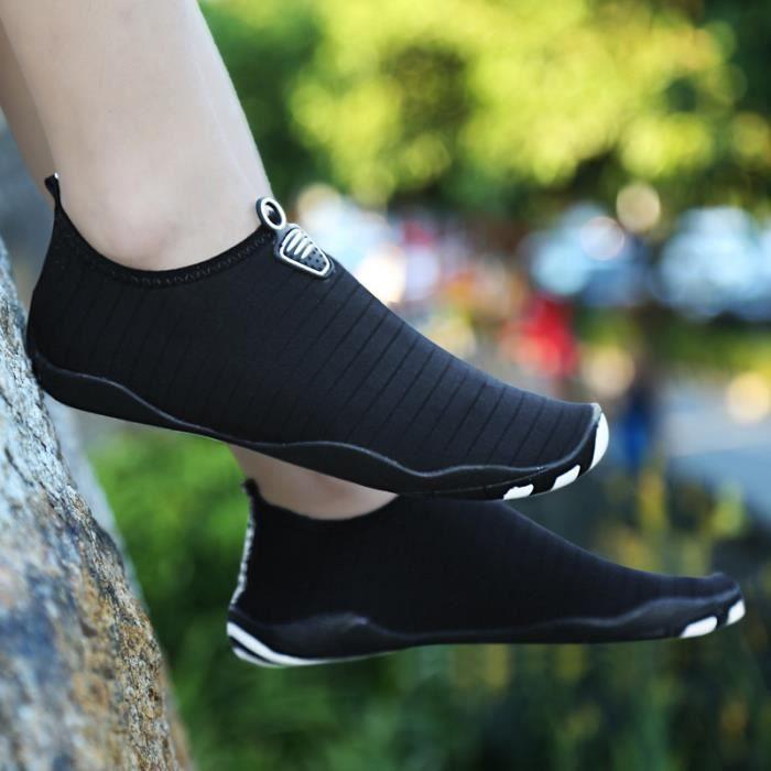 Chaussures de sport nautique Pieds nus à séchage rapide Aqua Yoga Chaussettes Slip-on pour Hommes Femmes Enfants