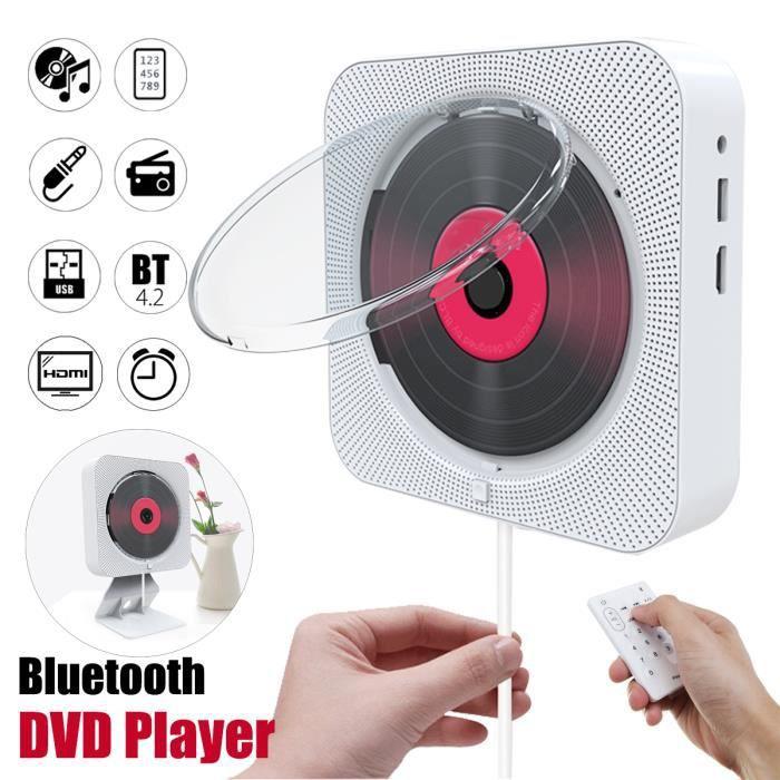LECTEUR DVD PORTABLE HDMI DVD VCD Lecteur Bluetooth Mural Haut-parleur