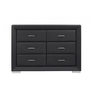 commode simili cuir achat vente commode simili cuir pas cher cdiscount. Black Bedroom Furniture Sets. Home Design Ideas
