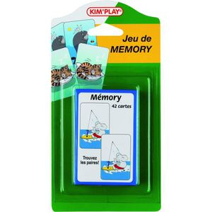 KIMPLAY Jeu de mémoire - 42 cartes