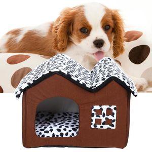 KIT HABITAT - COUCHAGE Maison Double Pièce Pour Chien Pet House Haut de G