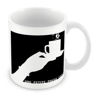 BOL - MUG - MAZAGRAN Mug Céramique Tasse Une Petite Pause Café Tasse No