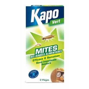 PRODUIT INSECTICIDE Piège à mites alimentaires Kapo Vert (2 pièges)