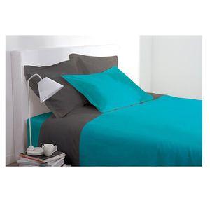 parure de lit turquoise achat vente parure de lit turquoise pas cher cdiscount. Black Bedroom Furniture Sets. Home Design Ideas