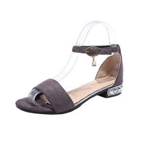 65d24feeba615 CHAUSSON - PANTOUFLE Femmes mode bout rond plate-forme sandales à talon ...