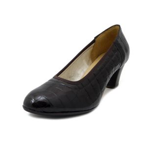 ESCARPIN Escarpin Chaussures, cuir brillant brun foncé, tal