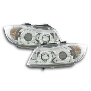 PHARES - OPTIQUES phares Angel Eyes BMW 3er E90/E91 an. 05-08 chrome