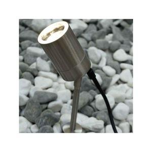 BALISE - BORNE SOLAIRE  Nordlux - Spot sur piquet Tin H36 cm IP 54 - Gris