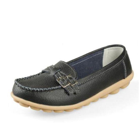 Mocassin Femmes Mode Loafer Detente Classique Chaussures BBDG-XZ088Noir37 Noir Noir - Achat / Vente escarpin