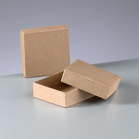 boite carr e en carton avec couvercle 9 cm x 9 achat vente support d corer boite. Black Bedroom Furniture Sets. Home Design Ideas