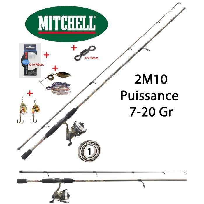 Pack complet Carnassier / Truite Michell Tanager 2M10 + Accessoires